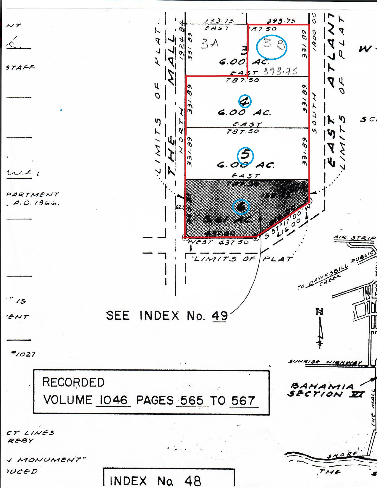 Bahamia Section VI Lots 3B, 4,5,6